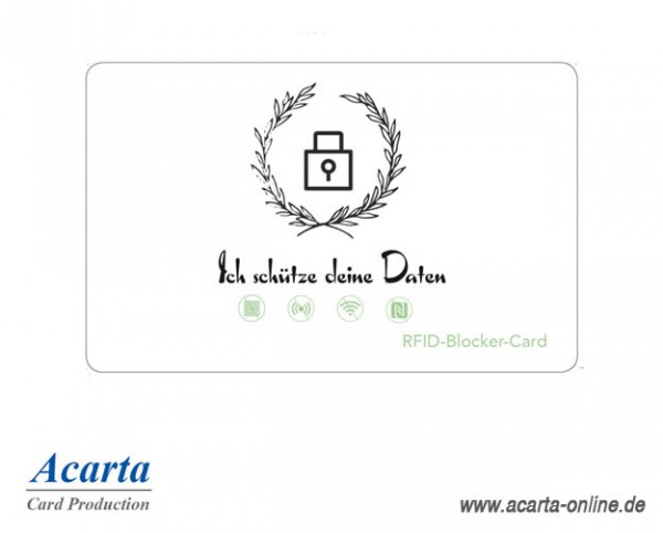 RFID-Abschirmkarte Motiv 06 Ich schütze deine Daten