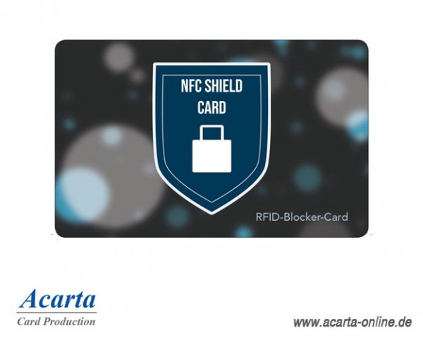 RFID-Störsenderkarte Motiv 04 NFC SHIELD CARD Schutzschild