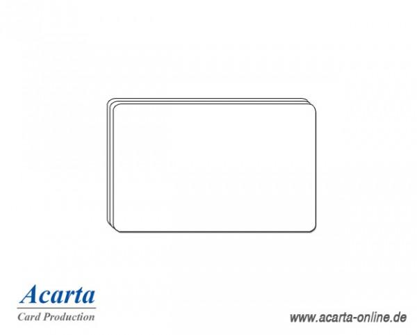 Plastikkarten Sonderstärke, blanko weiß, 0,25 mm, Karton zu 750 Stk