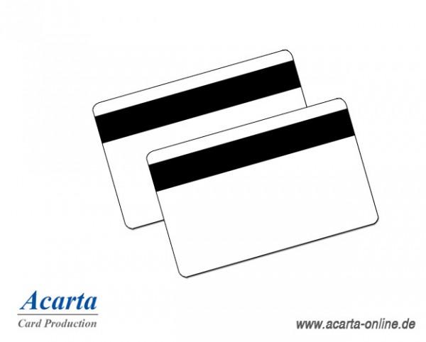 LoCo Magnetstreifenkarten 300oe, blanko weiß, 0,76 mm, Karton zu 250 Stk