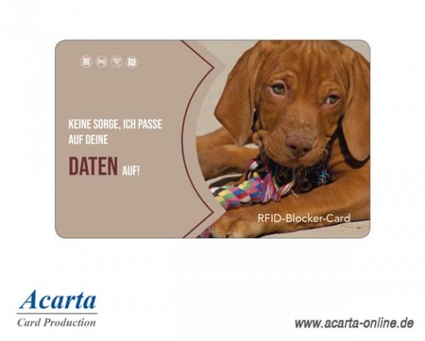 RFID-Abschirmkarte Motiv 21 Keine Sorge. Ich passe auf deine Daten auf!