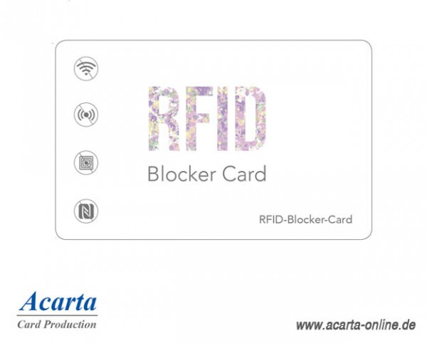 "RFID-Blocker-Card Abschirmkarte Motiv 05 ""ART"""