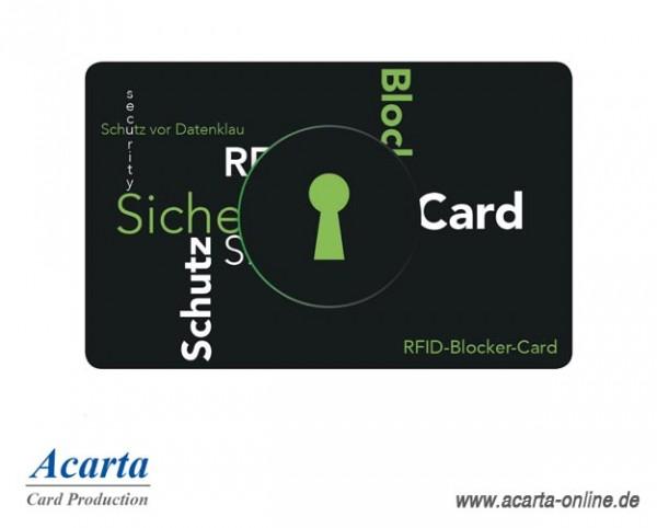 RFID-Abschirmkarte Motiv 03 Schutz vor Datenklau