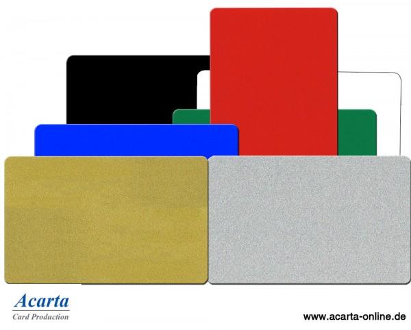 Plastikkarten metallic verschiedene Farben