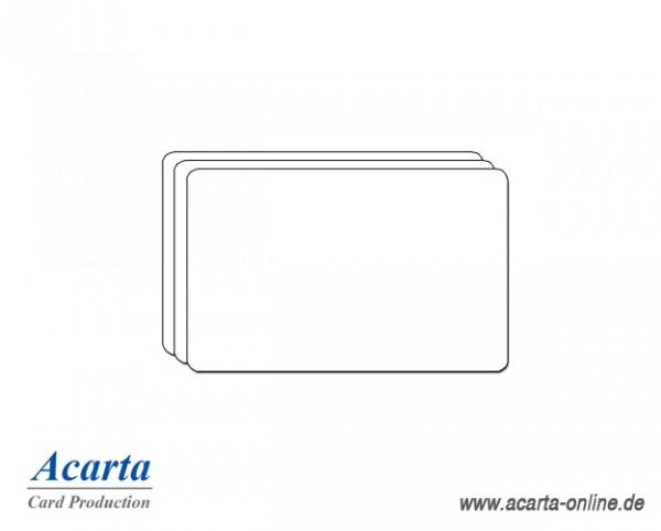 Plastikkarten Sonderstärke, blanko weiß, 0,5 mm, Karton zu 750 Stk