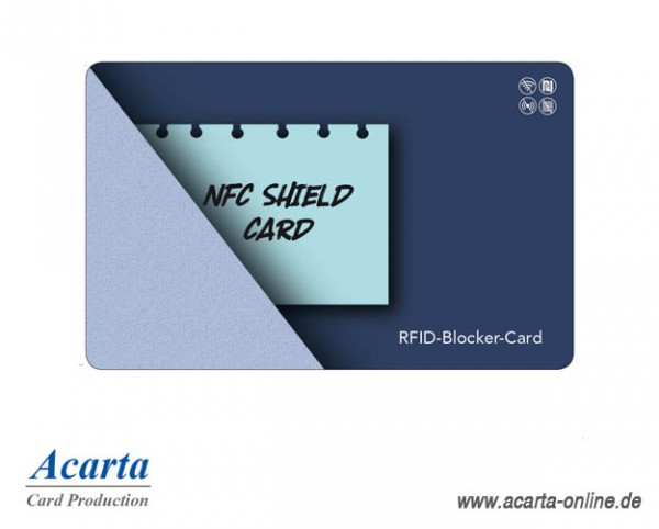 RFID-Abschirmkarte Motiv 11 NFC SHIELD CARD Notiz