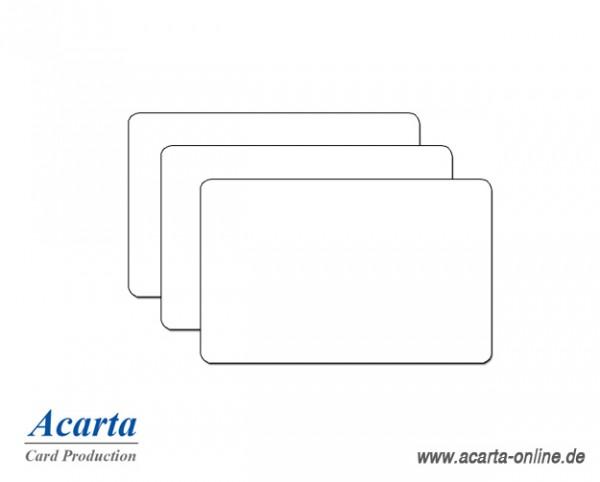 BioCard blanko weiß, 0,76 mm, Karton zu 250 Stk