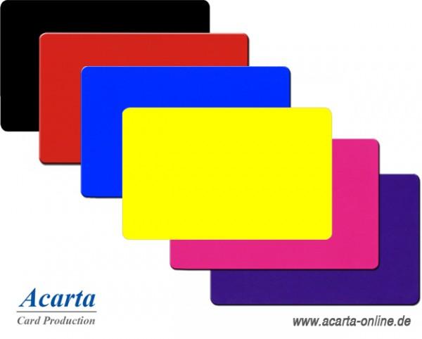 Plastikkarten farbig verschiedene Farben