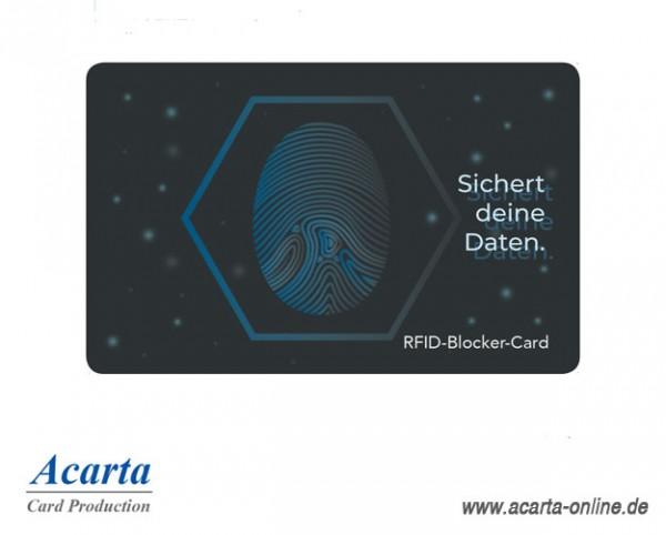 """RFID-Blocker-Card Abschirmkarte Motiv 02 """"Sichert deine Daten"""""""