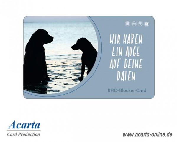 RFID-Abschirmkarte Motiv 18 Wir haben ein Auge auf Deine Daten
