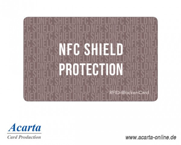 RFID-Störsenderkarte Motiv 10 NFC SHIELD PROTECTION