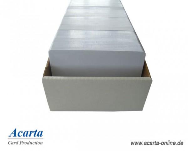 Plastikkarten laserfähig, blanko weiß, 0,76 mm, Karton zu 500 Stk
