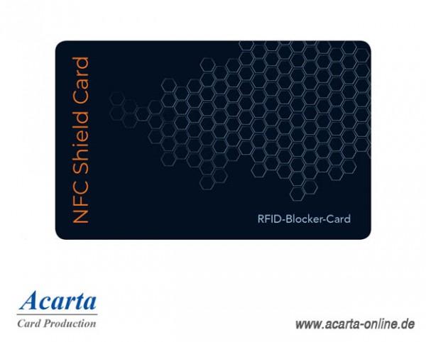 RFID-Störsenderkarte Motiv 12 NFC SHIELD CARD Waben